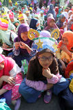 Ramadhan. Islamic school students are doing activities welcoming the holy month of Ramadan in the city of Solo, Central Java, Indonesia Stock Photo