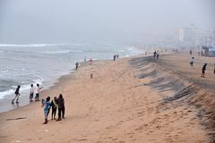Ramakrishna plaża W India obrazy stock