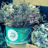 Ramalhete abstrato de flores secadas Fotografia de Stock Royalty Free