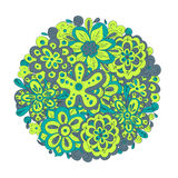 Ramalhete bonito da garatuja das flores Fotos de Stock Royalty Free