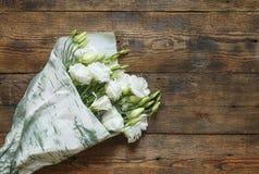 Ramalhete bonito das flores brancas Imagem de Stock