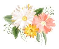Ramalhete bonito das flores do estilo do vintage Foto de Stock Royalty Free