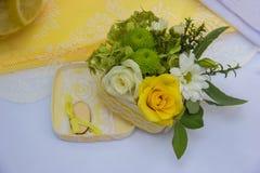 Ramalhete bonito das flores para a cerimônia de casamento Fotografia de Stock