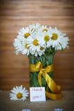 Ramalhete bonito das margaridas brancas Fotos de Stock Royalty Free
