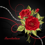 Ramalhete bonito das rosas com grânulos Imagem de Stock