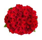 Ramalhete bonito das rosas vermelhas isolado no branco fotografia de stock royalty free