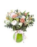 Ramalhete bonito David Austin Roses do casamento imagens de stock