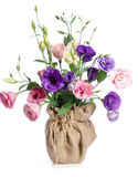 Ramalhete bonito de flores do eustoma Foto de Stock
