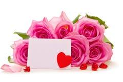 Ramalhete bonito de rosas cor-de-rosa Imagens de Stock Royalty Free