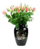 Ramalhete bonito de rosas vermelhas no vaso Imagem de Stock