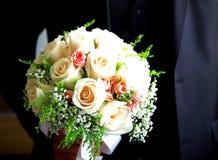 Ramalhete bonito do casamento das rosas brancas Imagem de Stock Royalty Free