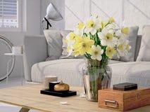 Ramalhete bonito do narciso amarelo rendição 3d Imagem de Stock Royalty Free