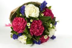 Ramalhete bonito no fundo branco Imagens de Stock Royalty Free