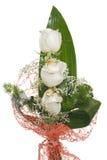 Ramalhete branco das rosas Foto de Stock