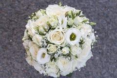 Ramalhete branco do casamento Fotografia de Stock