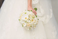 Ramalhete branco do casamento da orquídea Imagem de Stock