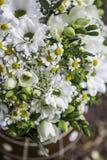 Ramalhete branco moderno do casamento Imagem de Stock Royalty Free