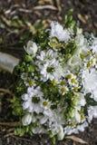 Ramalhete branco moderno do casamento Imagem de Stock