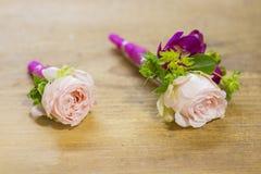 Ramalhete branco moderno do casamento Imagens de Stock