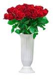 Ramalhete colorido da flor das rosas vermelhas isoladas no backgro branco Imagens de Stock
