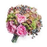Ramalhete colorido da flor isolado no branco Imagem de Stock Royalty Free