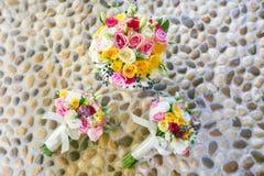 Ramalhete colorido das rosas Fotos de Stock Royalty Free