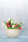 Ramalhete colorido das tulipas Fotos de Stock Royalty Free
