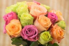 Ramalhete colorido de Rosa Imagens de Stock Royalty Free