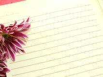 Ramalhete cor-de-rosa das flores do caderno e dos crisântemos bonitos Imagem de Stock Royalty Free
