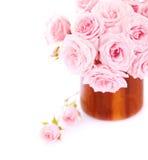 Ramalhete cor-de-rosa das rosas imagens de stock