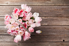 Ramalhete cor-de-rosa dos tulips Foto de Stock