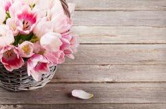 Ramalhete cor-de-rosa dos tulips Fotos de Stock Royalty Free