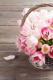 Ramalhete cor-de-rosa dos tulips Fotografia de Stock