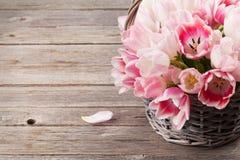 Ramalhete cor-de-rosa dos tulips Imagens de Stock