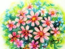 Ramalhete cor-de-rosa pintado das flores fotografia de stock royalty free