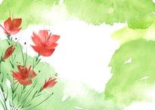 Ramalhete da aquarela das flores Fundo floral ilustração do vetor