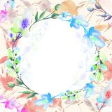 Ramalhete da aquarela das flores ilustração do vetor