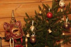 Ramalhete da composição do Natal da árvore com brinquedos Imagem de Stock
