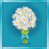 Ramalhete da flor da margarida no cartão Fotos de Stock