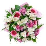 Ramalhete da flor isolado no fundo branco imagem de stock royalty free