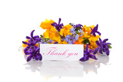 Ramalhete da mola das flores com gratitude Fotografia de Stock