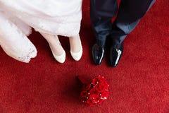 Ramalhete da noiva, do noivo e do casamento Foto de Stock Royalty Free