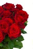 Ramalhete da obscuridade - rosas vermelhas no fim do vaso acima Fotos de Stock Royalty Free