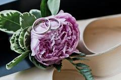 Ramalhete da peônia da noiva Fotografia de Stock Royalty Free
