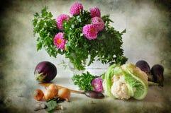 Ramalhete da salsa e das flores Foto de Stock