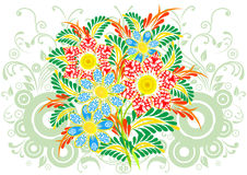 Ramalhete das flores abstratas com fundo Fotos de Stock