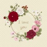 Ramalhete das flores Cartão de casamento Fotografia de Stock