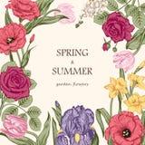 Ramalhete das flores Cartão de casamento Imagens de Stock Royalty Free