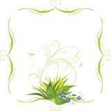 Ramalhete das flores no frame decorativo ilustração stock