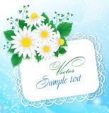 Ramalhete das margaridas e de uma letra Imagem de Stock Royalty Free